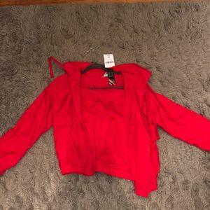 Forever 21 Jackets & Coats - Red rain jacket